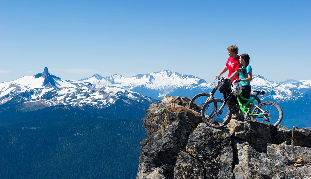 MOUNTAIN BIKING AMAZING MOUNTAIN VIEWS