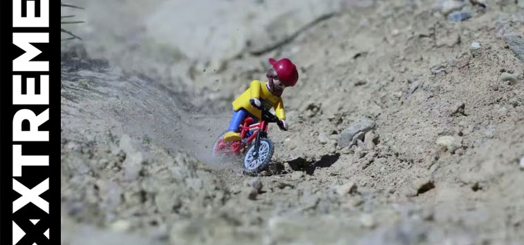 EXTREME LEGO MOUNTAIN BIKING